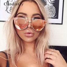 Flat Mirror Lens Celebrity Wear Men Women Classic Sunglasses Cat Eye Small UV400 Male Pink Female Sun Glasses Oculos de Sol
