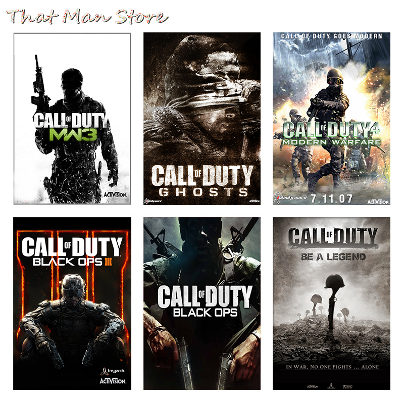 Call Duty Posters Game Wall Stickers White Coated Paper PrintsClear Image Home Decoration Livingroom Bedroom Bar Home Art Brand