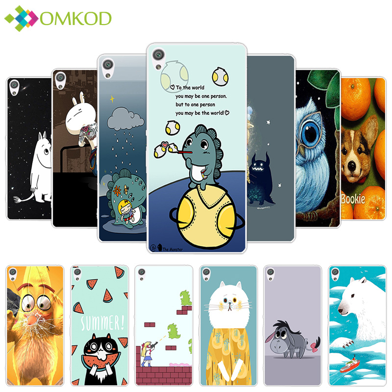 For Coque Sony Xperia XA TPU Clear Silicone Phone Cases 5.0 inch For Sony Experia XA F3111 F3112 Dual Cute Hippo Back Covers