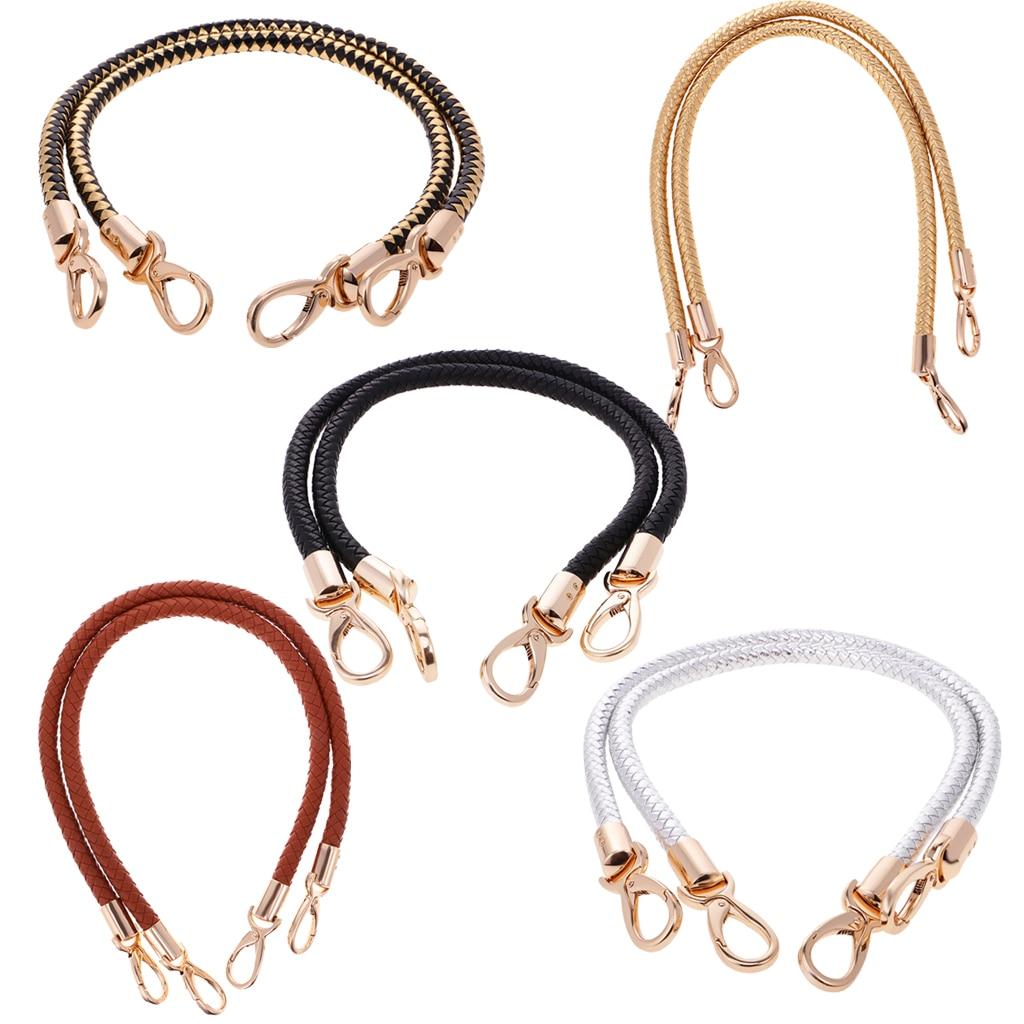 2Pcs DIY Shoulder Bag Replacement Handle Braided Rope Handbag Strap
