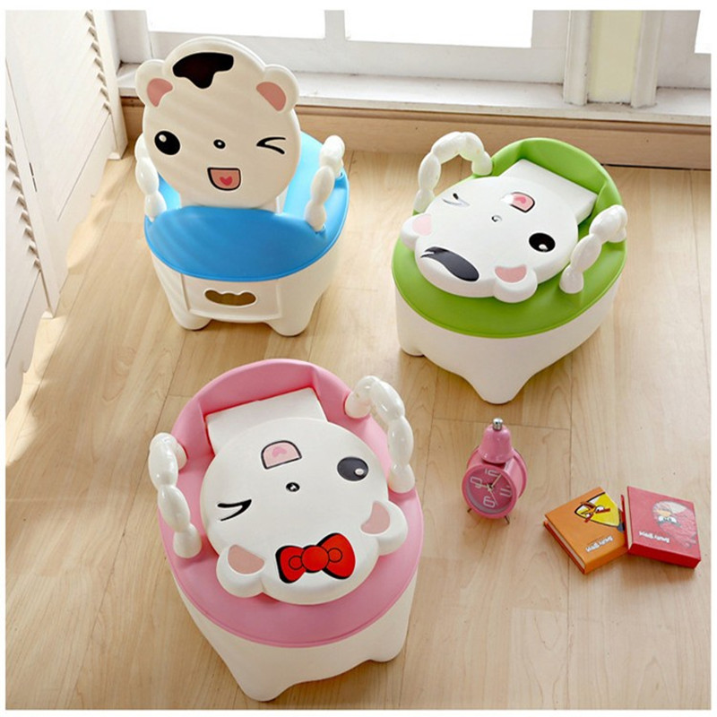 3 Colors Cute Cat Children's Toilet Shit Urine Pee Portable Baby Toilets Seat Urinal For Kids Potty Chair Child Toilet Training