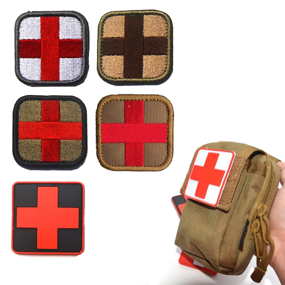 New 3d Pvc Rubber Medic Paramedic Red Cross Flag Of Switzerland Swiss Cross Patch Backpack Tactical Army Morale Badge Patches Warm And Windproof Entertainment Memorabilia
