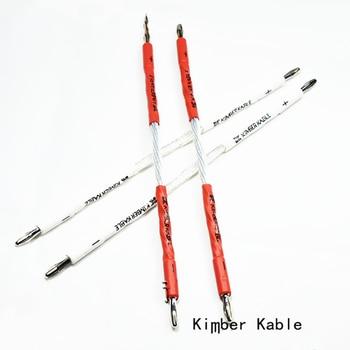 Hola-de audio 8AG Kimber de plata esterlina altavoz cable de audio cable de puente parlante audio Hifi cable 20cm 4 Uds