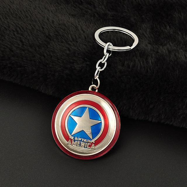 Euramerican Стиль Мстители Серии Moives Тема Капитан Америка Брелок Для Ключей Брелок Брелок Подарок Бесплатная Доставка