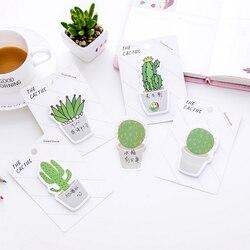 30 folhas 12.5*8.8cm cactus bloco de memorando notas pegajosas memorando bloco de notas bookmark papel adesivo escola material de escritório
