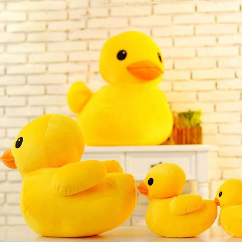Cute 20 50 68cm Yellow Duck Plush Toys Big Yellow Duck Dolls Kawaii Stuff Plush Pillows Home Sofa Ornament Brinquedos