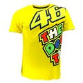 100% Cotton MotoGP Valentino Rossi VR46 Yellow The Doctor T-Shirt VRMTS Jersey Motorcycle Motorbike Racing VR46 T-shirt