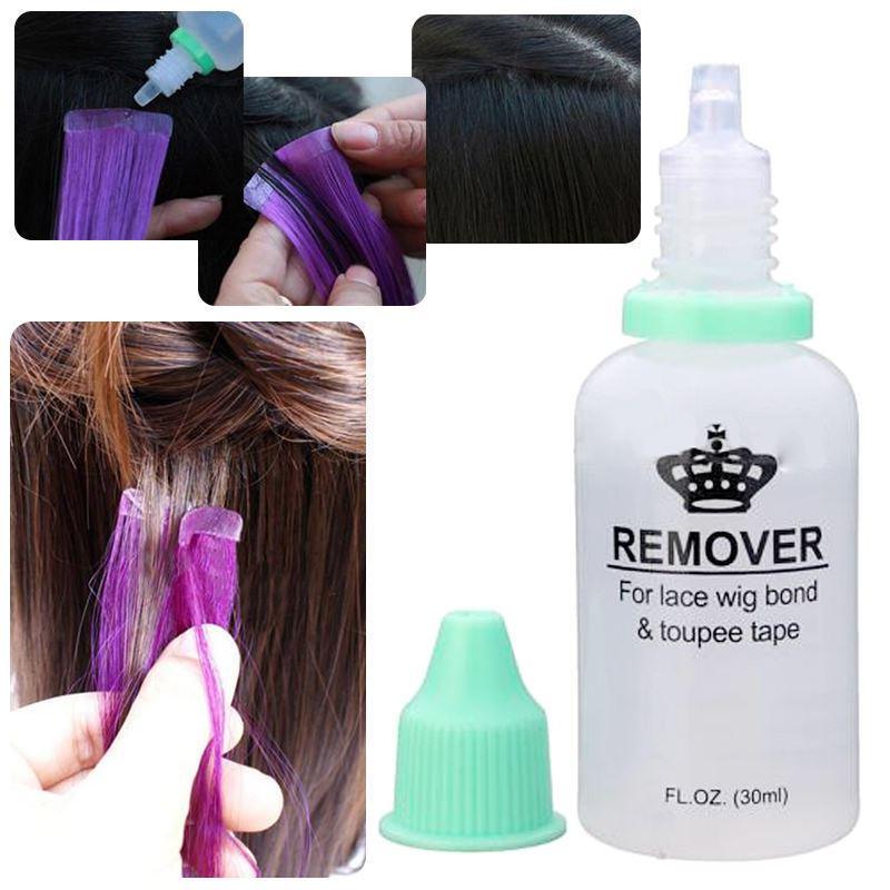 1 бутылка 30 мл средство для удаления клея, инструмент для наращивания волос, двухсторонний инструмент для удаления клея для парика