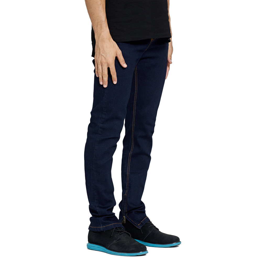 Men Stretch Jeans Design Fashion Ankle Zipper Slim Jeans For Men E6020
