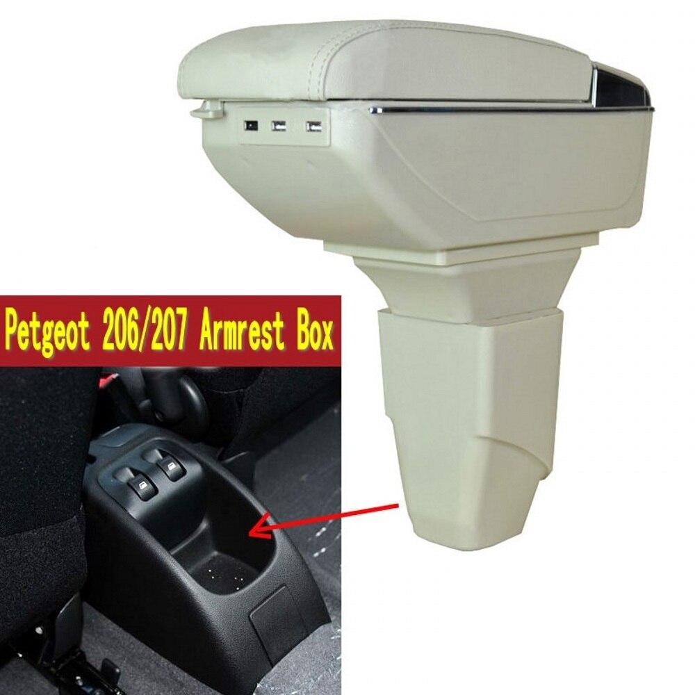 Voor Peugeot 206 207 Armsteun Doos Centrale Winkel Inhoud Doos Met Bekerhouder Asbak Usb 207 206 Armleuningen Doos Gedistribueerd Worden Over De Hele Wereld