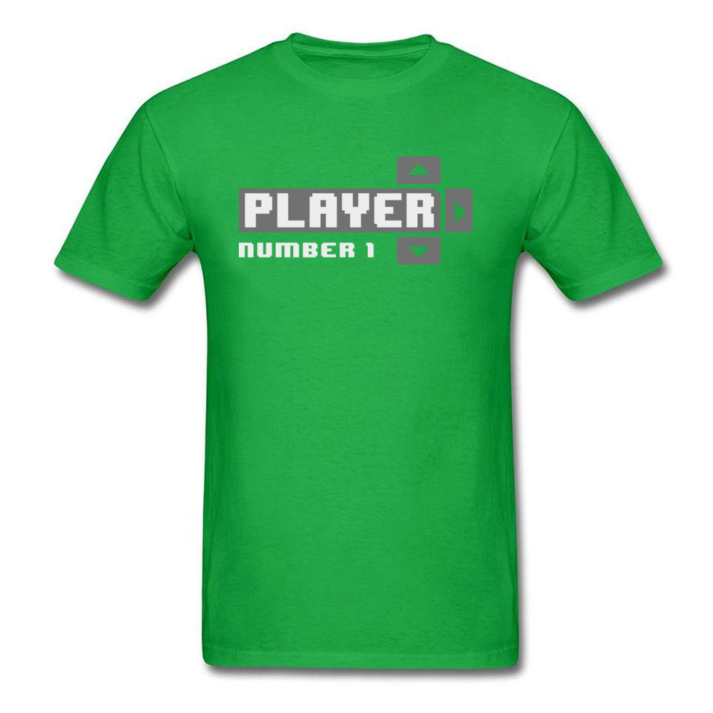Player Number 1 All Cotton Tops T Shirt for Men Leisure T Shirt 3D Printed Prevailing O-Neck Tops Shirt Short Sleeve Player Number 1 green