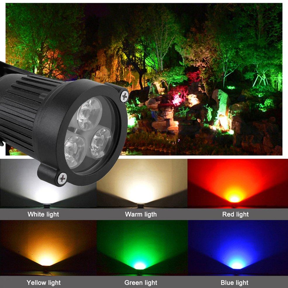 5 pcs 12V LED Spike Light Bulb Lamp Spotlight Outdoor Garden Yard Path Landscape Blue цена