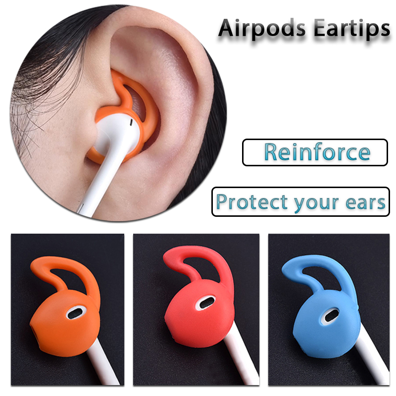 Earphone Accessories In-Ear Earphones Caps For Apple Airpods Earpods Cover Anti-lost Holder For Airpods TWS I12 I9s I30 I10 I7s