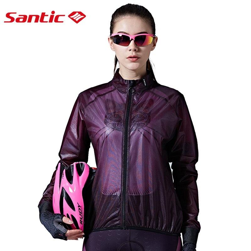 Vestes de cyclisme SANTIC Protection UV coupe-vent respirant imperméable violet vtt vestes hommes femmes pliable peau chemise vêtements
