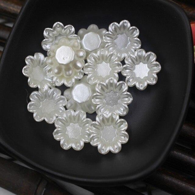 17*13 м 45 шт/лот цветочные бусины abs имитация жемчуга пластиковые