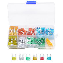 120pcs/lot Car Truck Small Size MINI Blade Fuses 5A 10A 15A 20A 25A 30A AMP Plastic Box Assortment with Clip(China)
