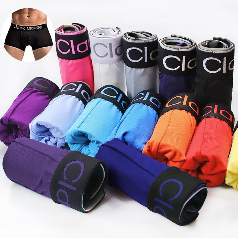 10 PCS Jack Claude Men Underwear Boxers Brand Men Boxer Shorts Modal Sexy Cueca Boxer Mens 10 Pcs Underwear Male Underpants