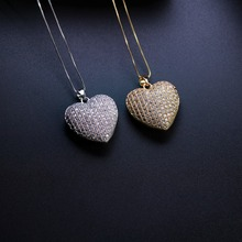 Mother gift Heart shape Pendant Necklace Cubic zirconia necklace with plated Women Jewelry Fashion Bijoux Chain NJD001662