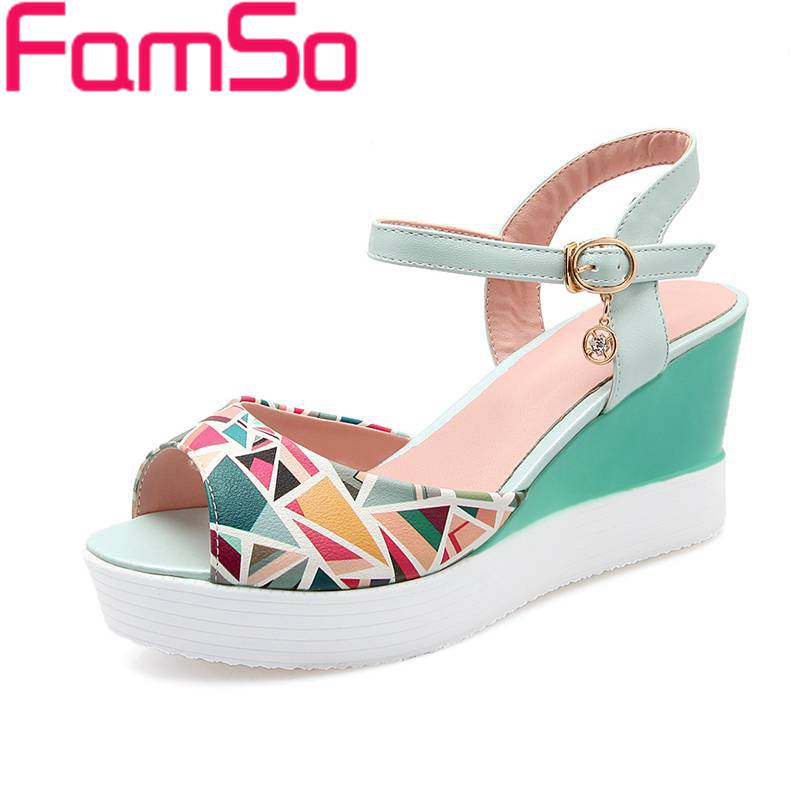 Plus Size34 42 2016 New Shoes font b Women b font Sandals Mixed Colors High Heels