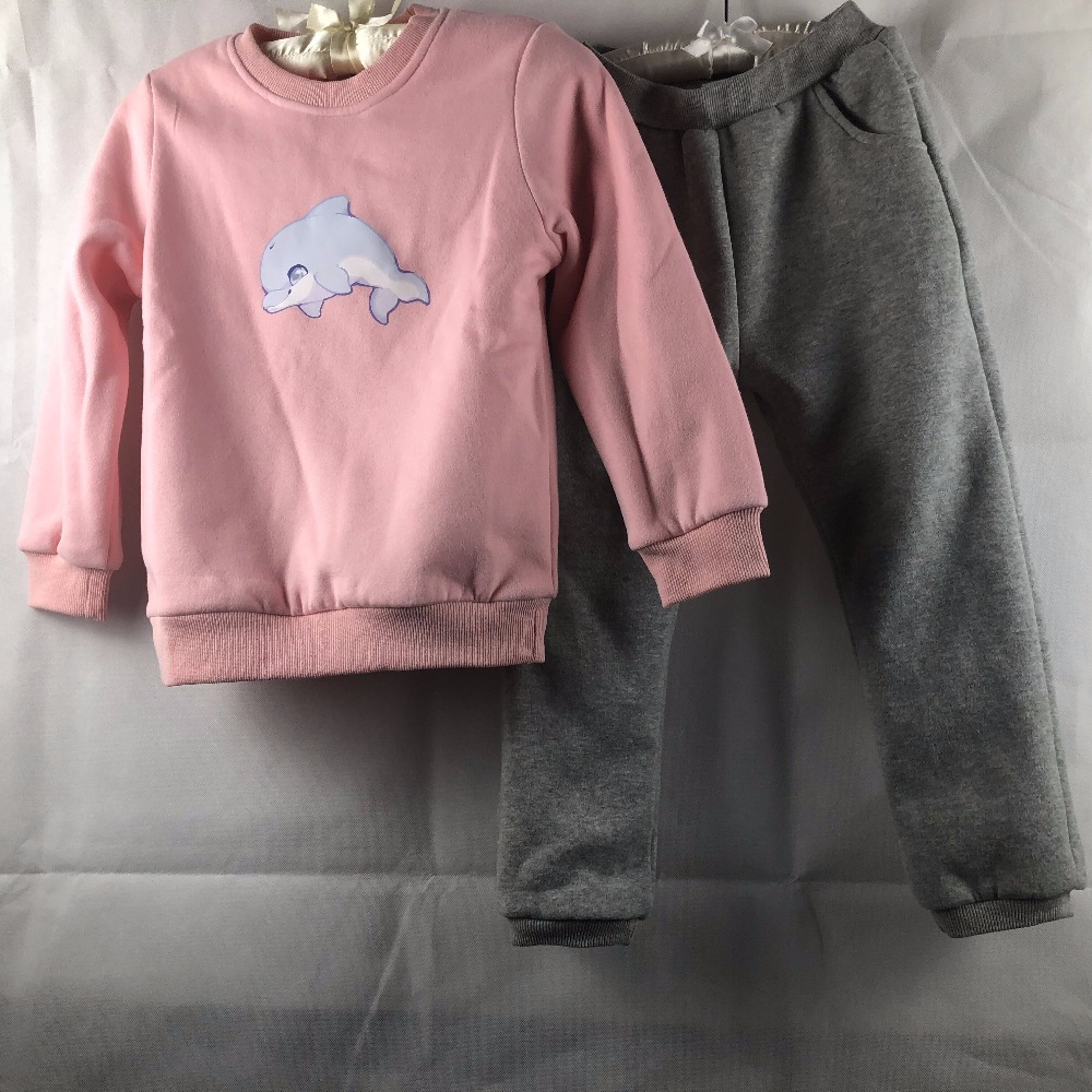 children clothing set Boys Clothes Winter Boys Clothing Set Warm Velvet Suit Kids Sweatshirt+Pants Children Costumes Sports