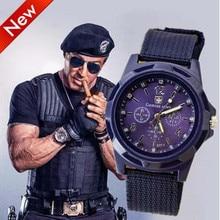2019 men's Fashion Sports Brand watch Military Canvas quartz watches outdoor Men WristWatch Hot Sale zegarki meskie reloj hombre