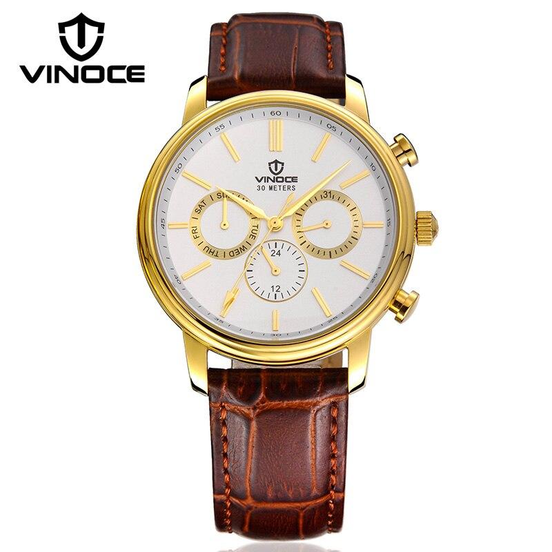VINOCE multifonction hommes montres Top marque de luxe montres d'affaires 2019 Quartz-montre hommes mode Relogio Masculino V8371