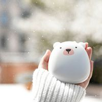Black Penguin Hand Warmers USB Portable Charging Treasure Winter Mini Warm Creative Gift Home Garden Household Merchandises