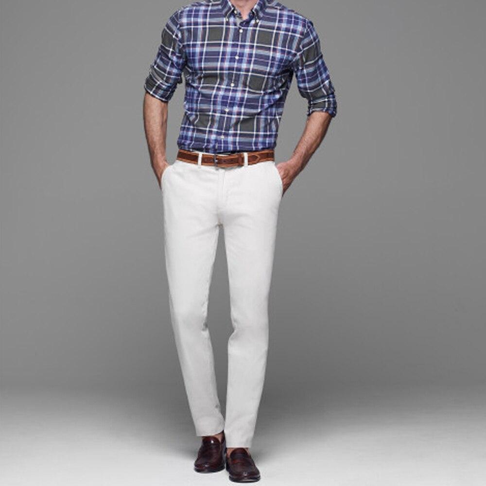 Chinos Men Khaki Pants Men Custom Made, Bespoke 100% Cotton
