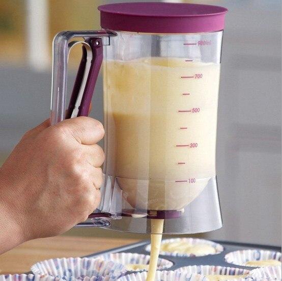 1 PC BACKEN Backen Werkzeug Kuchen Teig Dispenser Cupcake Trichter Teig Dispenser Ventil Messbecher Mix Mess küche werkzeug OK 0403
