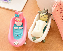 Cute Cartoon Bathroom Kitchen font b Storage b font Soap Holder Box Moulds Cat Beer Soap