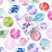 20packs/lot yaratıcı el hesabı 32 gezegen dekorasyon kutulu etiketler öğrenciler oyuncak çıkartmalar süt etiket