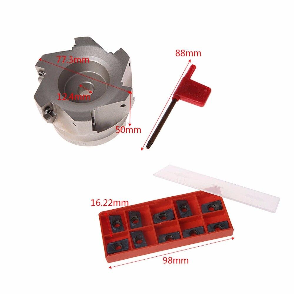 Fraise à fraiser BAP 400R-80-27-6F fraise à queue Indexable à 6 cannelures avec Insert 10x APMT1604PDER