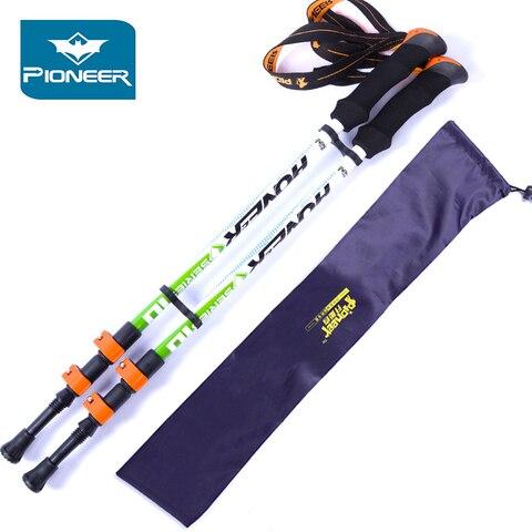 2 pc pack canes varas polos trekking de 62 cm 135 cm ajustavel forte leve