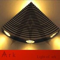 Arca luz moderno minimalista 4 W LED lâmpada de parede, Luz das escadas bar KTV luzes de parede, Em forma de leque lâmpada de parede
