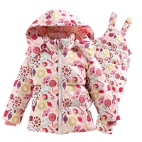 2016 Winter Children S Clothing Set Kids Ski Suit Overalls Fashion Print Girls Down Coat Warm