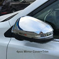 2pcs/set ABS Chrome Accessories Fit For Toyota RAV4 RAV 4  2016 Rearview Side Mirror Cover Trim Garnish Car styling