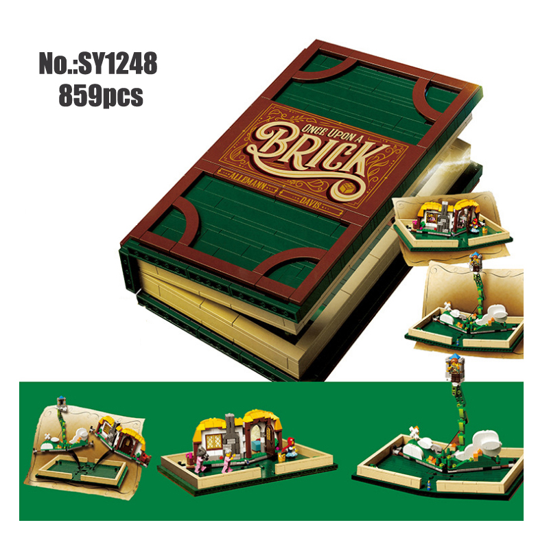 Idea Series Pop-up Book 3D model Building Blocks Bricks Toys Compatible With 21315 Set for Children Gifts