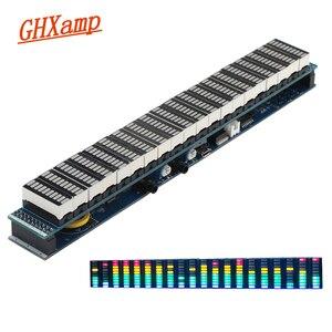 Image 1 - GHXAMP Amplificador de espectro de música LED, Multicolor, 20 segmentos, nivel 10 USB 5 12V, fuente de alimentación, función de reloj, acabado nuevo