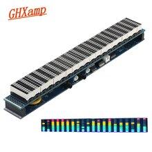 Ghxamp multicolorido 20 segmento led amplificador de espectro de música nível 10 usb 5 12 v função de relógio de alimentação terminado novo