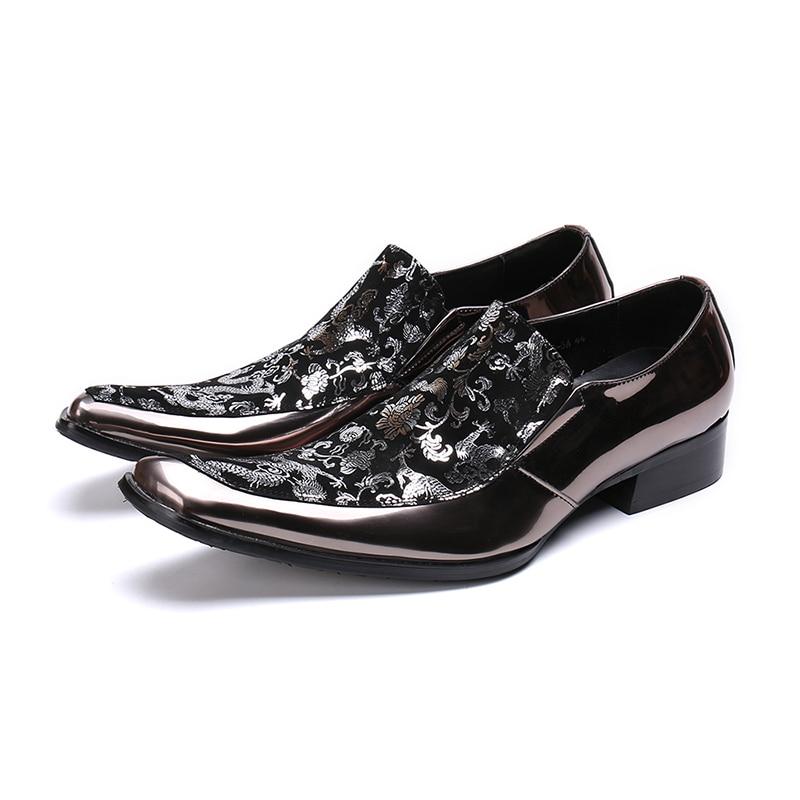 Escritório Deslizar Para Sobre Oxford Homens Genuíno Sapatos Italianos Dos De Vestido Festa Negócios Formal Couro Casamento Floral Sapatas Luxo BTfqwOx6A
