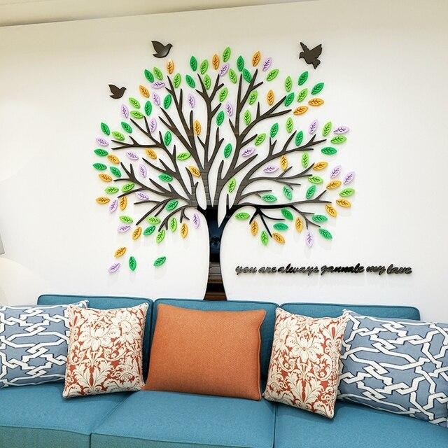Aliexpress.com : Buy Creative tree bird forest plant nursery wall ...