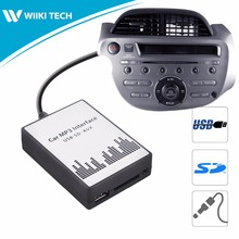 APPS2Car Car Radio USB SD AUX Interface Digital Music Changer Mp3 Adapter for Honda Fit 2006-2011 fits selected OEM Radios