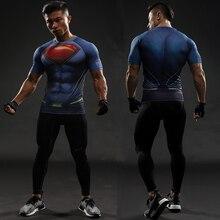 ФОТО batman vs superman t shirt tee 3d printed t-shirts men short raglan sleeve fitness cosplay costume slim fit compression top male