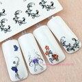 5 листов переноса воды лак для ногтей наклейки наклейки для ногтей советы украшения для укладки инструменты Красоты цветочного дизайна