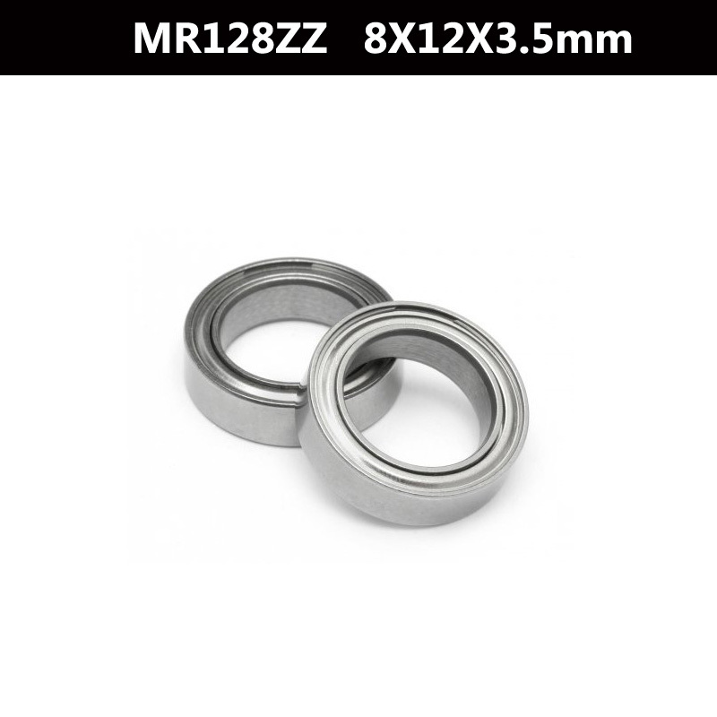 Free Shipping 10 PCS <font><b>MR128ZZ</b></font> ABEC-5 8X12X3.5 mm Deep groove Ball Bearings MR128 / L-1280 ZZ image