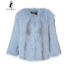 2018 New Fox Fur Long Sleeve Jacket Winter Fur Jacket Fashion Slim Fur coat Autumn And Winter Fox Fur Coat imitation fox fur children s jacket fashion clothing children fur coat girl autumn and winter leather new thick coats mf 230