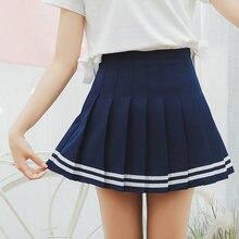 Женская клетчатая юбка сексуальная теннисная милая Полосатая