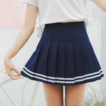 Girls Plaid Skirt Sexy Tennis Skirt Sweet Stripe High Waist Skirt Uniforms Cheerleading Sports Running Skirt