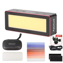 Aputure Amaran AL-MW Mini LED Light 10W Waterproof IP68 10M Built-in Lithium Battery 5500K CRI >95 Daylight with 6 Gels Ballhead aputure amaran h198 led light cri 95 on camera daylight temperature light video photo lighting for dslr camera dv camcorder