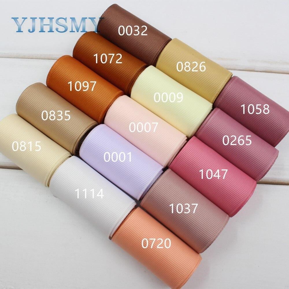 Yjhsmy 173241, 50 мм одноцветное Цвет Grosgrain ленты 10 метров, поделки ручной работы аксессуары, Ювелирные изделия